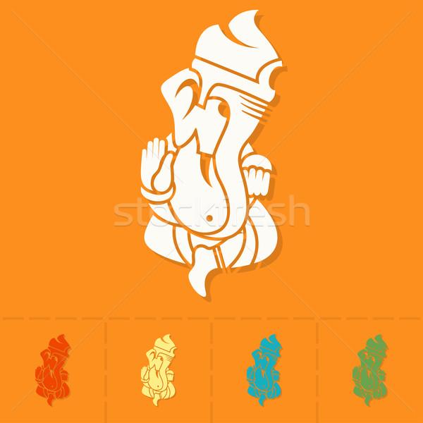 Diwali indian festival icon eenvoudige Stockfoto © HelenStock