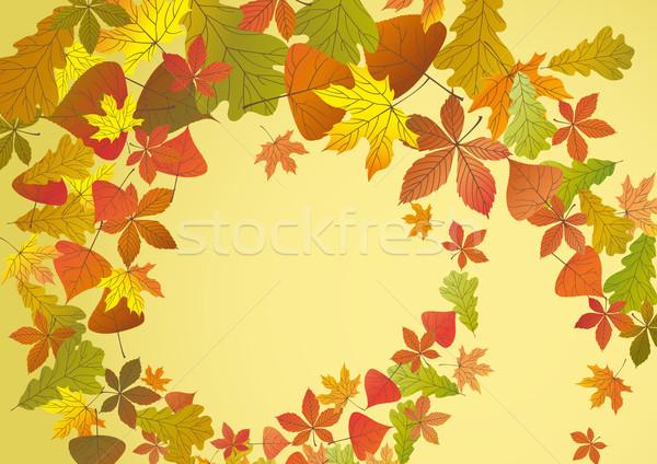 Foto stock: Outono · eps · 10 · flor · projeto