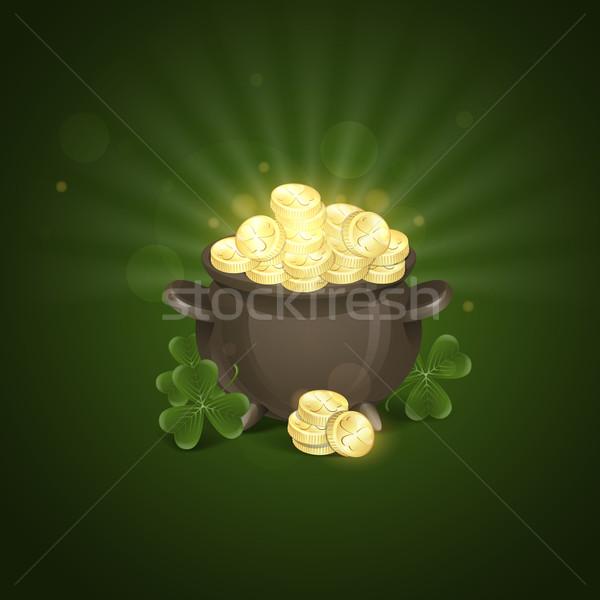 Dzień Świętego Patryka puli złota eps 10 projektu Zdjęcia stock © HelenStock