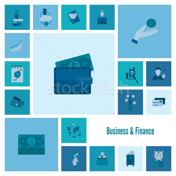 Iş finanse basit minimalist stil Stok fotoğraf © HelenStock
