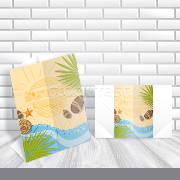 Cartão modelo de design eps 10 negócio feliz Foto stock © HelenStock