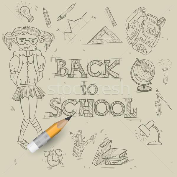 Welcome Back To School Stock photo © HelenStock