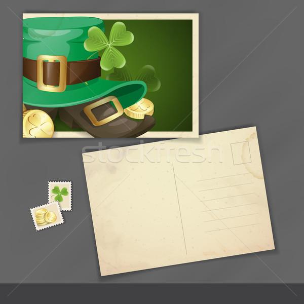 St. Patrick's Day Postcard Design Stock photo © HelenStock