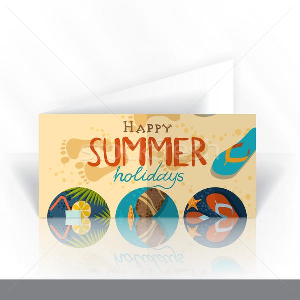 Invitation Card Design, Template Stock photo © HelenStock