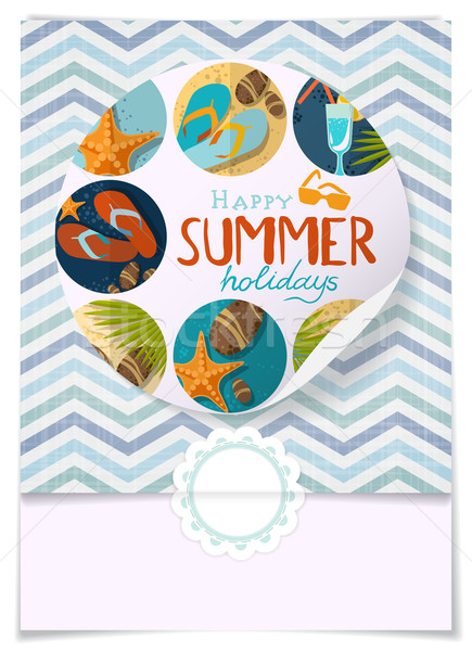 Greeting Card Design, Template Stock photo © HelenStock