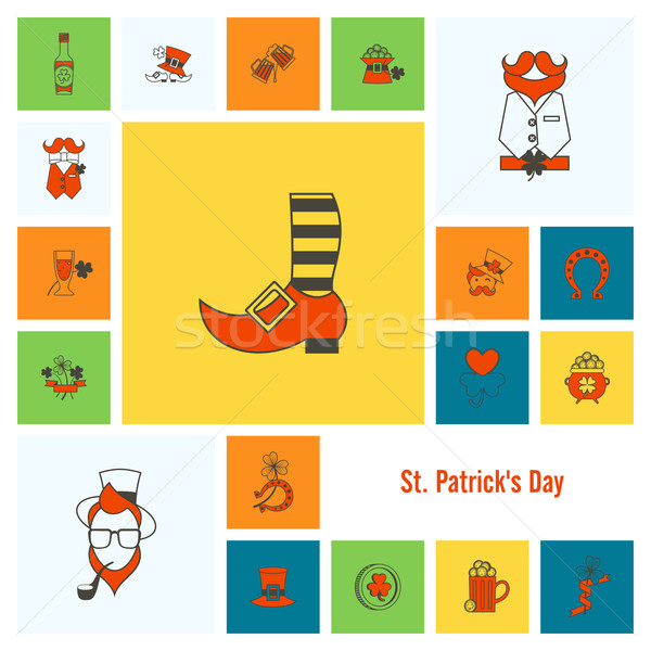 Saint Patricks Day Icon Set Stock photo © HelenStock