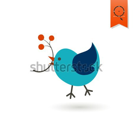 Bird with Viburnum Stock photo © HelenStock