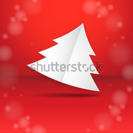 einfache papier weihnachtsbaum weihnachten neujahr. Black Bedroom Furniture Sets. Home Design Ideas
