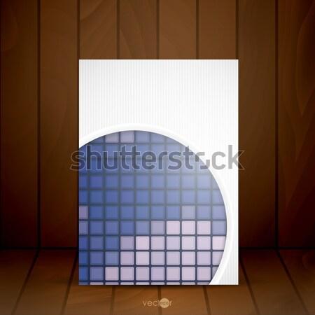 抽象的な 白 紙 サークル eps 10 ストックフォト © HelenStock