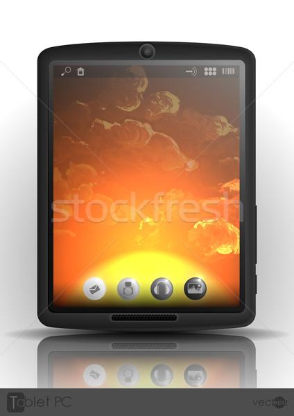Cep telefonu eps 10 gökyüzü teknoloji Stok fotoğraf © HelenStock