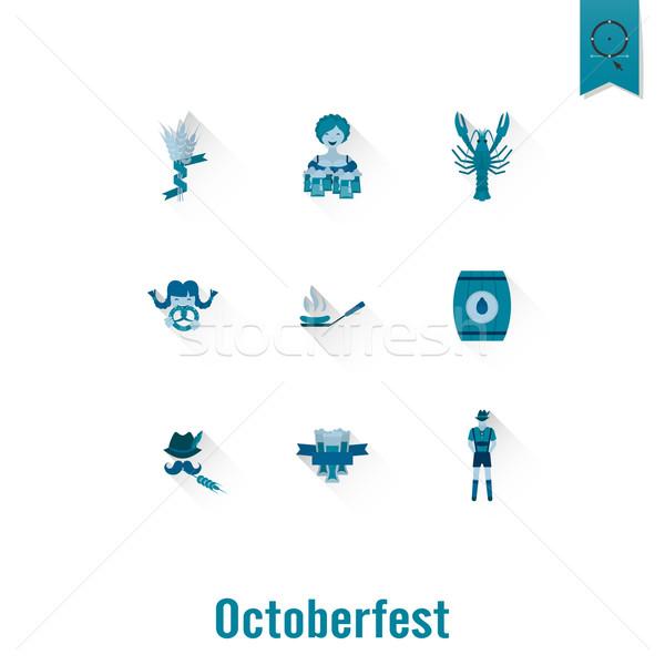 Oktoberfest bere festival proiect stil vector Imagine de stoc © HelenStock