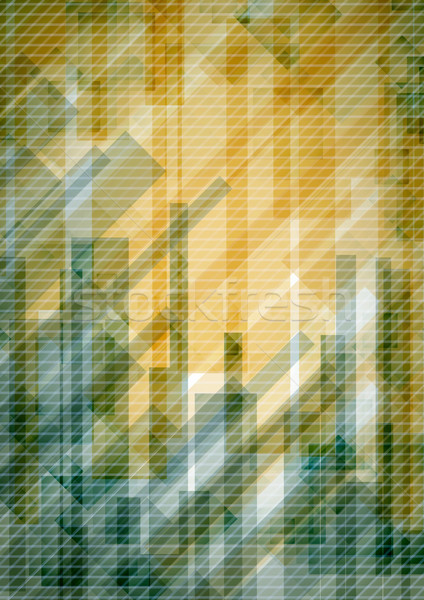 Résumé jaune rectangle eps 10 Photo stock © HelenStock