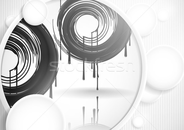 Abstract Background With White Paper Circles Stock photo © HelenStock
