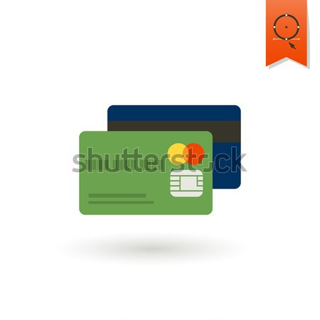 ストックフォト: クレジットカード · ビジネス · 金融 · アイコン · 単純な