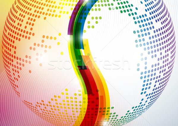 Absztrakt színes eps 10 természet üveg Stock fotó © HelenStock