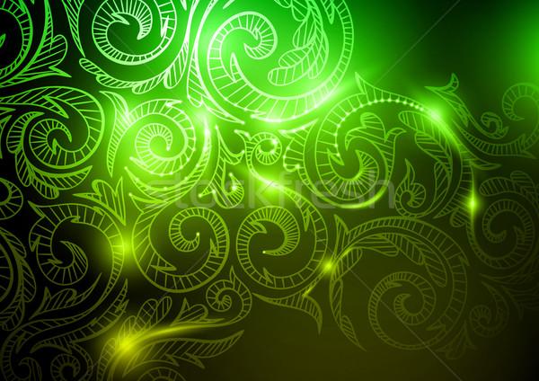 Neon model eps 10 soyut dizayn Stok fotoğraf © HelenStock