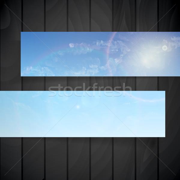 Abstract banners plaats tekst 3D eps Stockfoto © HelenStock
