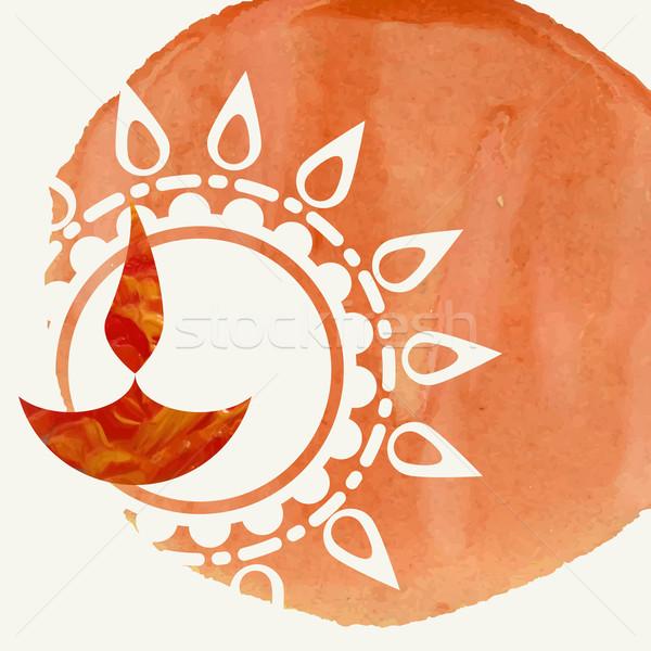 Feliz diwali festival eps 10 fuego Foto stock © HelenStock