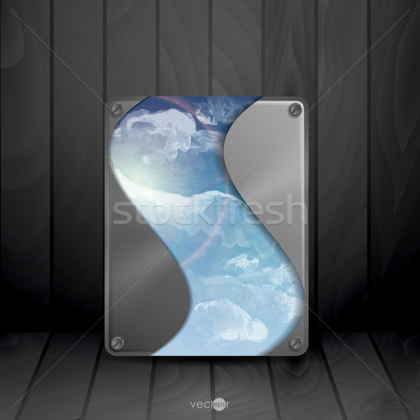 Textura de metal placa eps 10 textura sol Foto stock © HelenStock