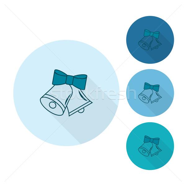 Christmas monochroom kleur vector lang schaduw Stockfoto © HelenStock