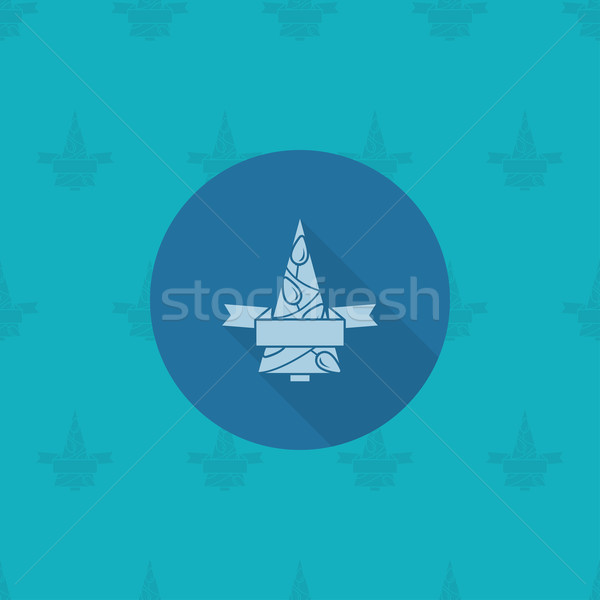 Stylized Christmas Tree with  Ribbon Stock photo © HelenStock
