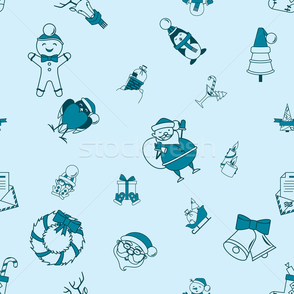 Christmas Seamless Pattern Background Stock photo © HelenStock