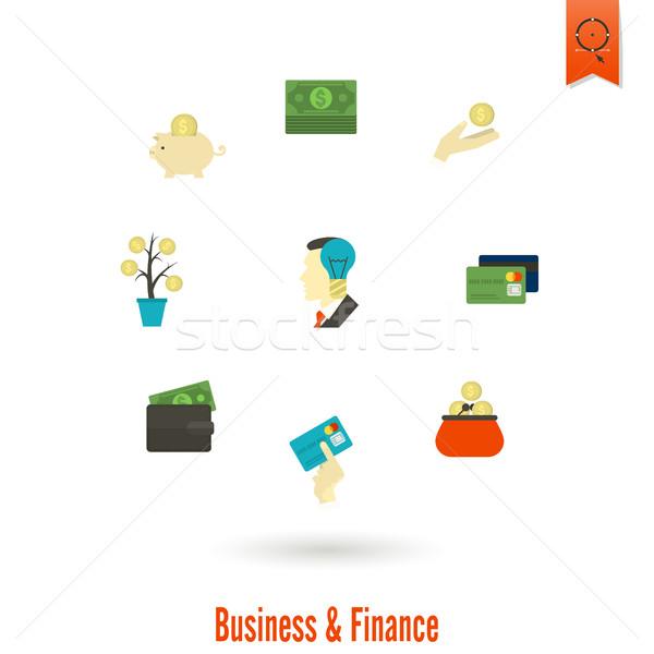 Business financieren eenvoudige stijl Stockfoto © HelenStock