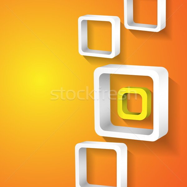 Abstract White Squares. Stock photo © HelenStock