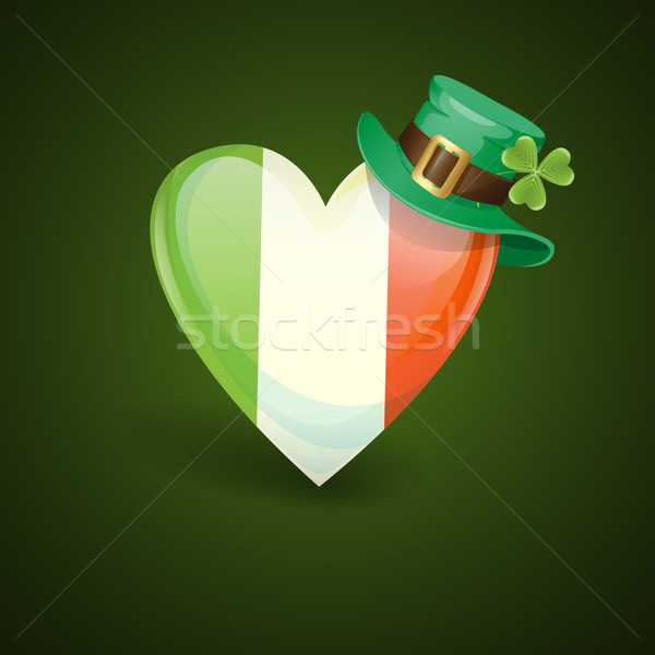 Irish Flag In The Shape Of A Heart. Stock photo © HelenStock