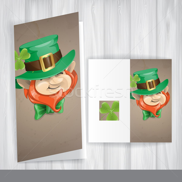 St Patrick's Day Leprechaun Face. Stock photo © HelenStock