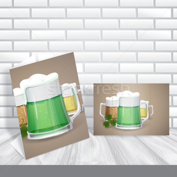 Mug Of Green Beer For St Patrick's Day. . Eps 10. Stock photo © HelenStock