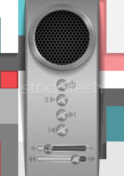 Abstract Speaker Concept Design. Stock photo © HelenStock