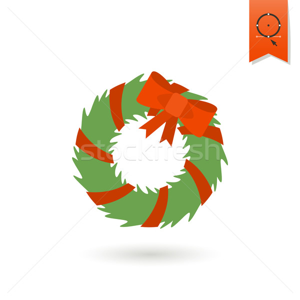 Christmas Wreath With Bow Stock photo © HelenStock