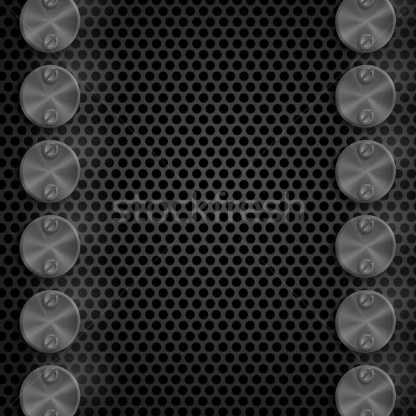 抽象的な 技術 金属の質感 ボタン eps 10 ストックフォト © HelenStock