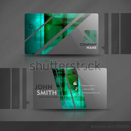 Business Card Design Stock photo © HelenStock