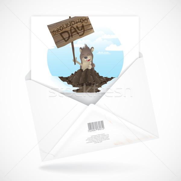 幸せ 日 グリーティングカード eps 10 デザイン ストックフォト © HelenStock