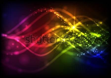 Сток-фото: аннотация · неоновых · волны · прибыль · на · акцию · 10 · свет