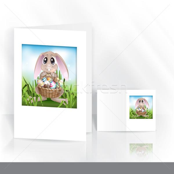 Kellemes húsvétot üdvözlőlap design sablon eps 10 boldog Stock fotó © HelenStock