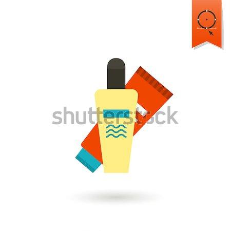 Verão praia simples ícone vetor projeto Foto stock © HelenStock