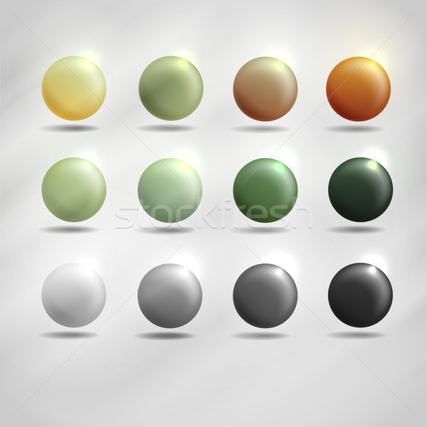 Colorful Round Buttons. Stock photo © HelenStock