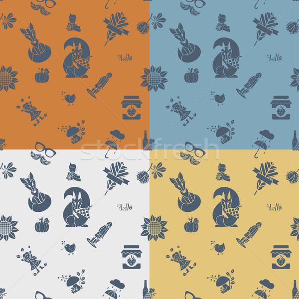 Autumn Seamless Pattern Stock photo © HelenStock