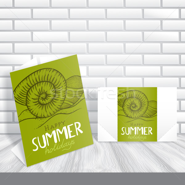 Stock photo: Greeting Card Design, Template