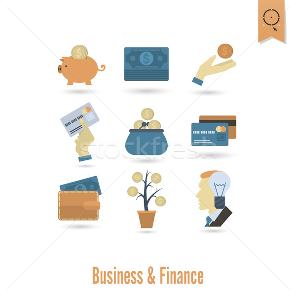 бизнеса Финансы простой стиль Сток-фото © HelenStock