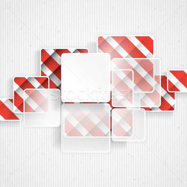 White Square Element On Stripes Background Stock photo © HelenStock