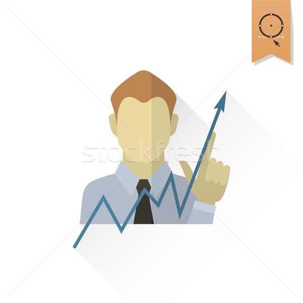 Gráfico de negócio mão indicação para cima negócio financiar Foto stock © HelenStock