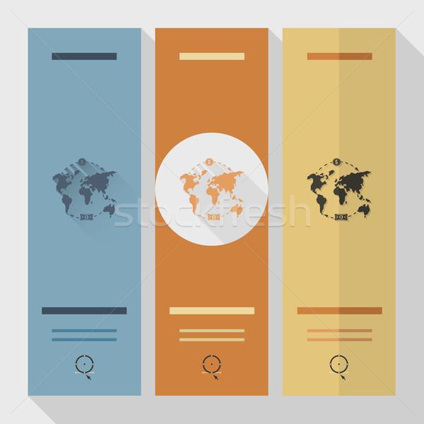 Dünya haritası para iş finanse ikon basit Stok fotoğraf © HelenStock