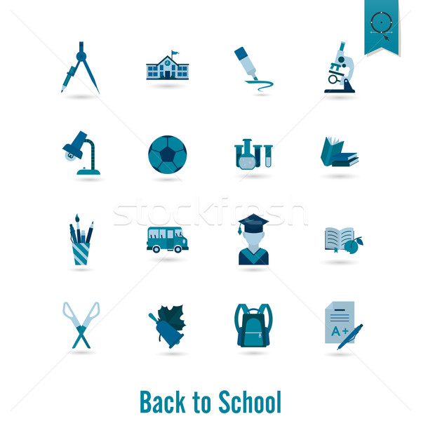 School and Education Icons Stock photo © HelenStock
