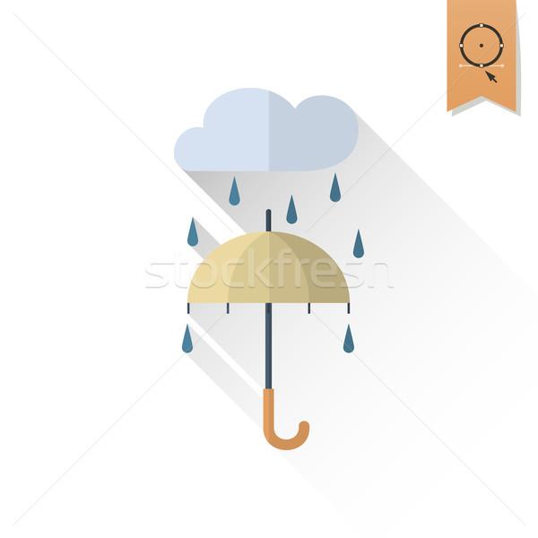 傘 雨 秋 アイコン 単純な ストックフォト © HelenStock