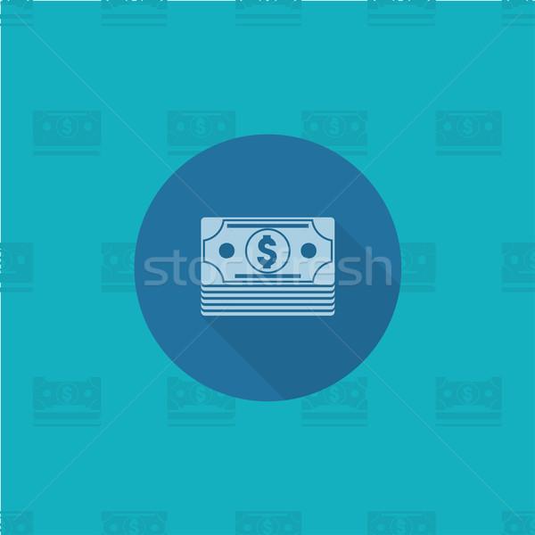 Dinheiro negócio financiar ícone simples Foto stock © HelenStock