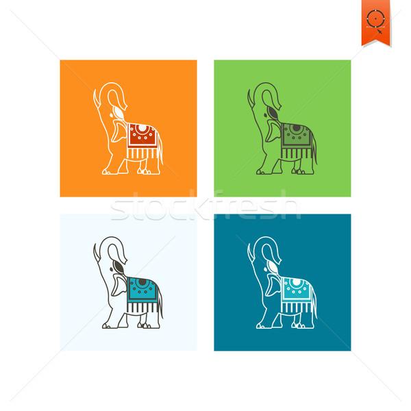 Diwali indiai fesztivál ikon egyszerű minimalista Stock fotó © HelenStock